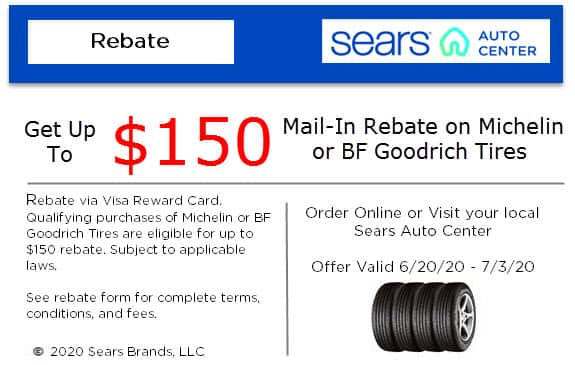 Michelin & BFGoodrich up to $200 In Rebate Savings @ Sears through 7/3