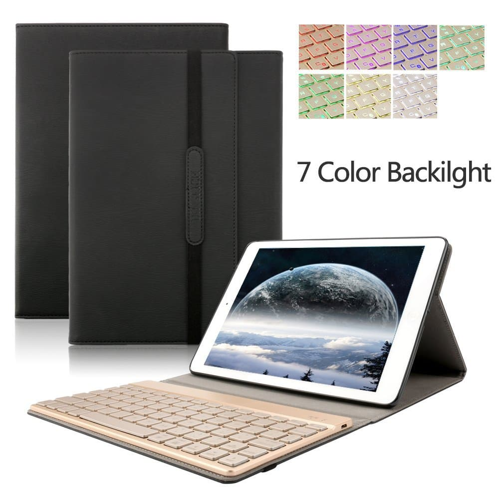 iPad Pro 10.5 Keyboard Case (Trifold/Protective Stand, Auto Sleep/Wake up Smart Cover, 7 Color Options, Backlit Keyboard, Bluetooth) $27.99 (50%off) Amazon FS w/Prime (One-Day)