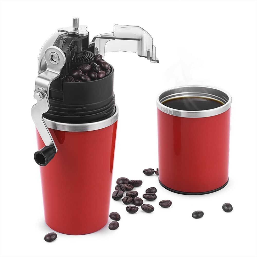 Manual Coffee Grinder & Brewer for Espresso (Includes Filter + Coffee Grinder) Red Color $27.49 FS @Amazon