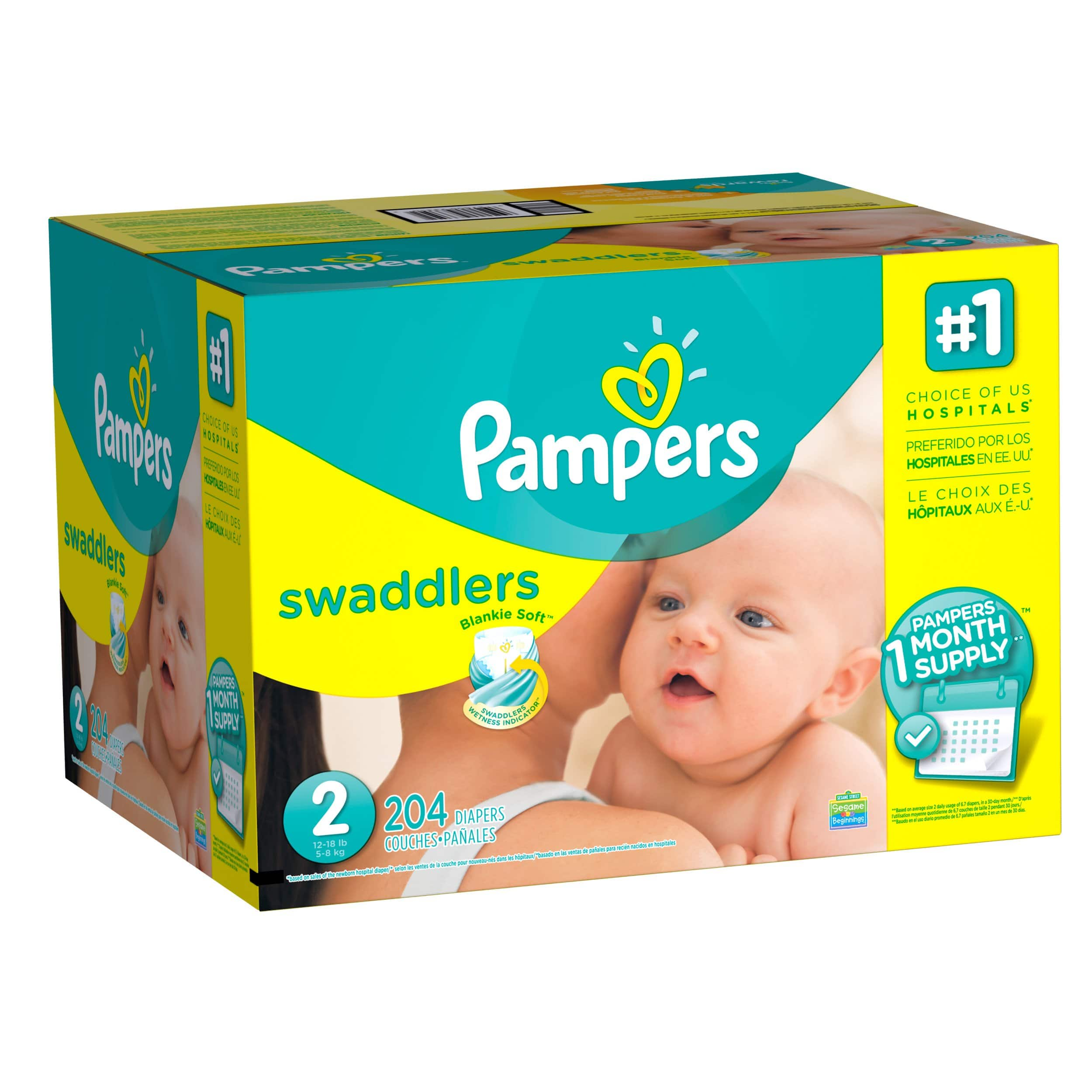 2 Pk Pampers Swaddlers Diapers Size 1 6 20 Gc From 7920