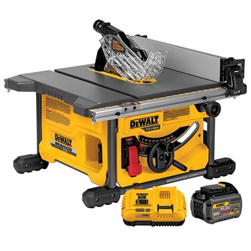 FLEXVOLT 60V MAX* 8-1/4In Table Saw Kit includes battery $359
