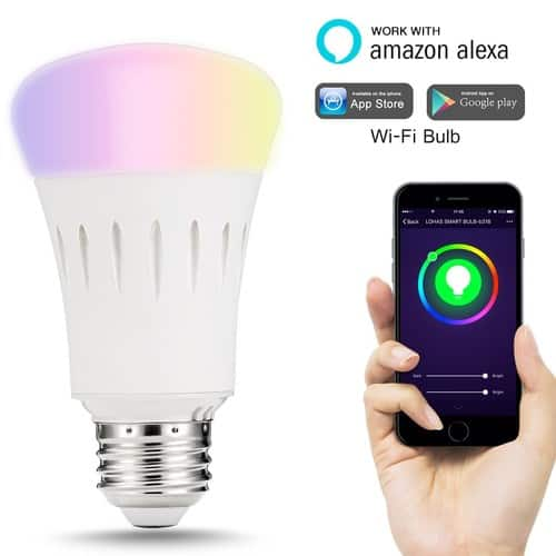 LOHAS Smart Multicolored A19 Bulb $13.99 after coupon + F/S w Prime