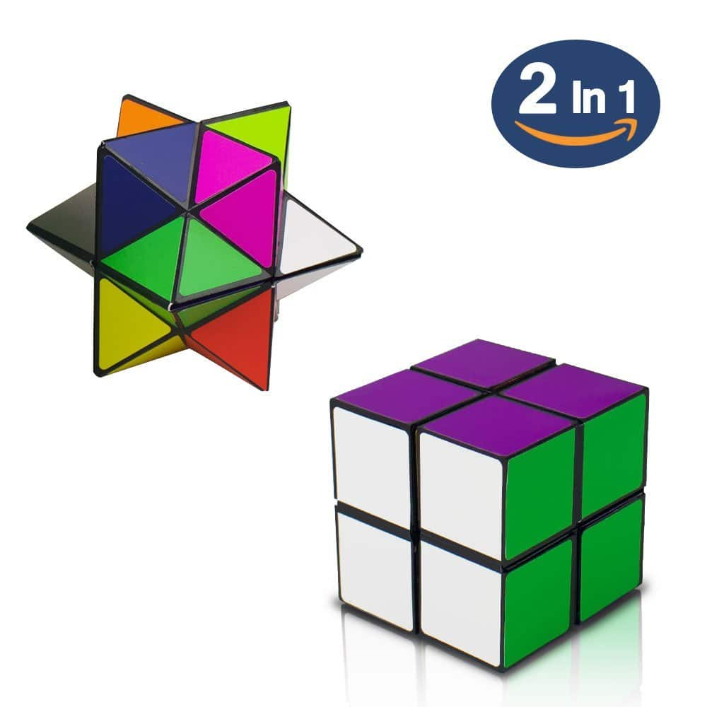 SHONCO 2 in 1 Combo Transforming Geometric Puzzle Infinity Cube Toy Magic Star Cube for $6.59 @ Amazon + Free shipping