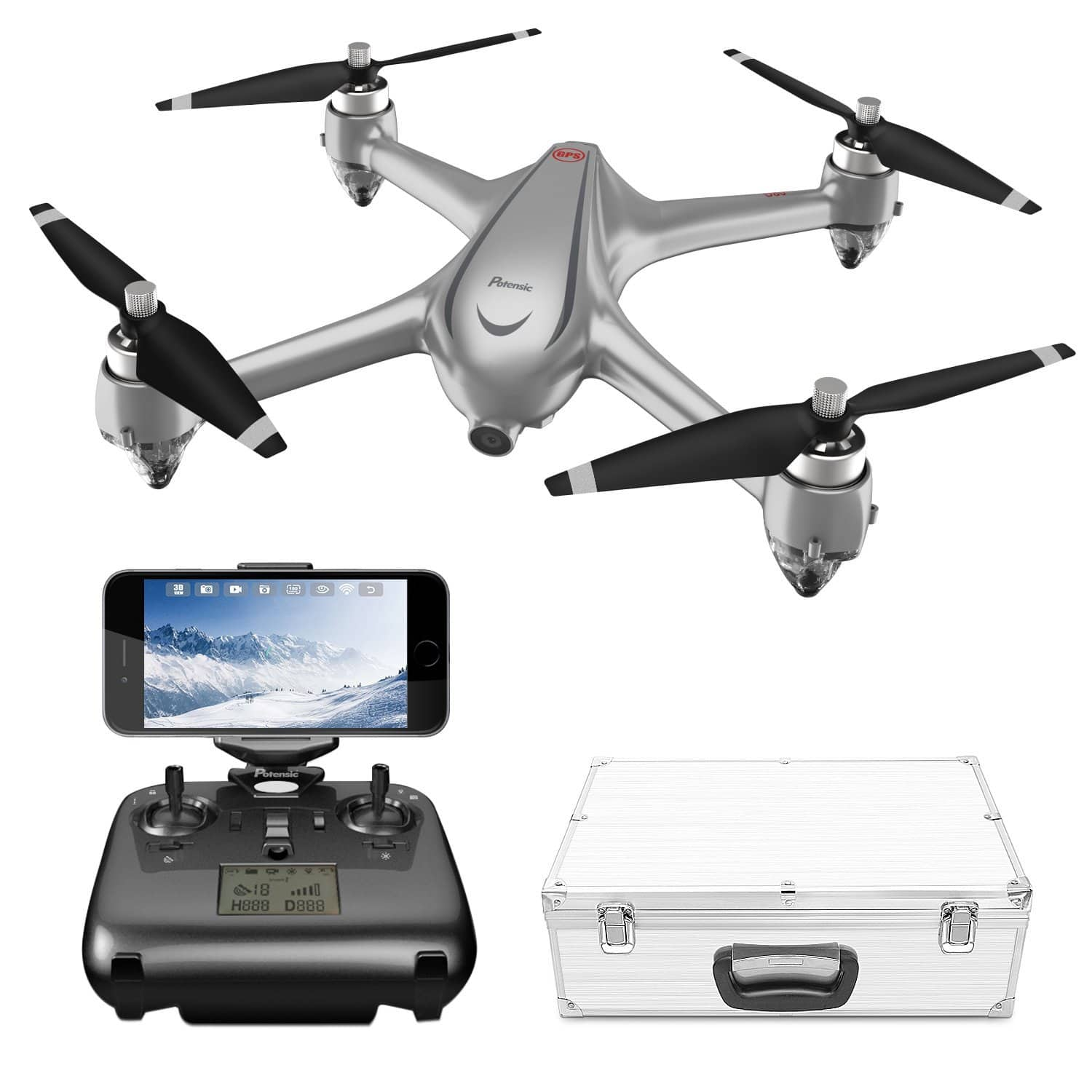 37% off GPS FPV RC Drone, D80 w/1080P Camera Live Video & GPS Return Home for $188.99 @ Amazon + Free shipping