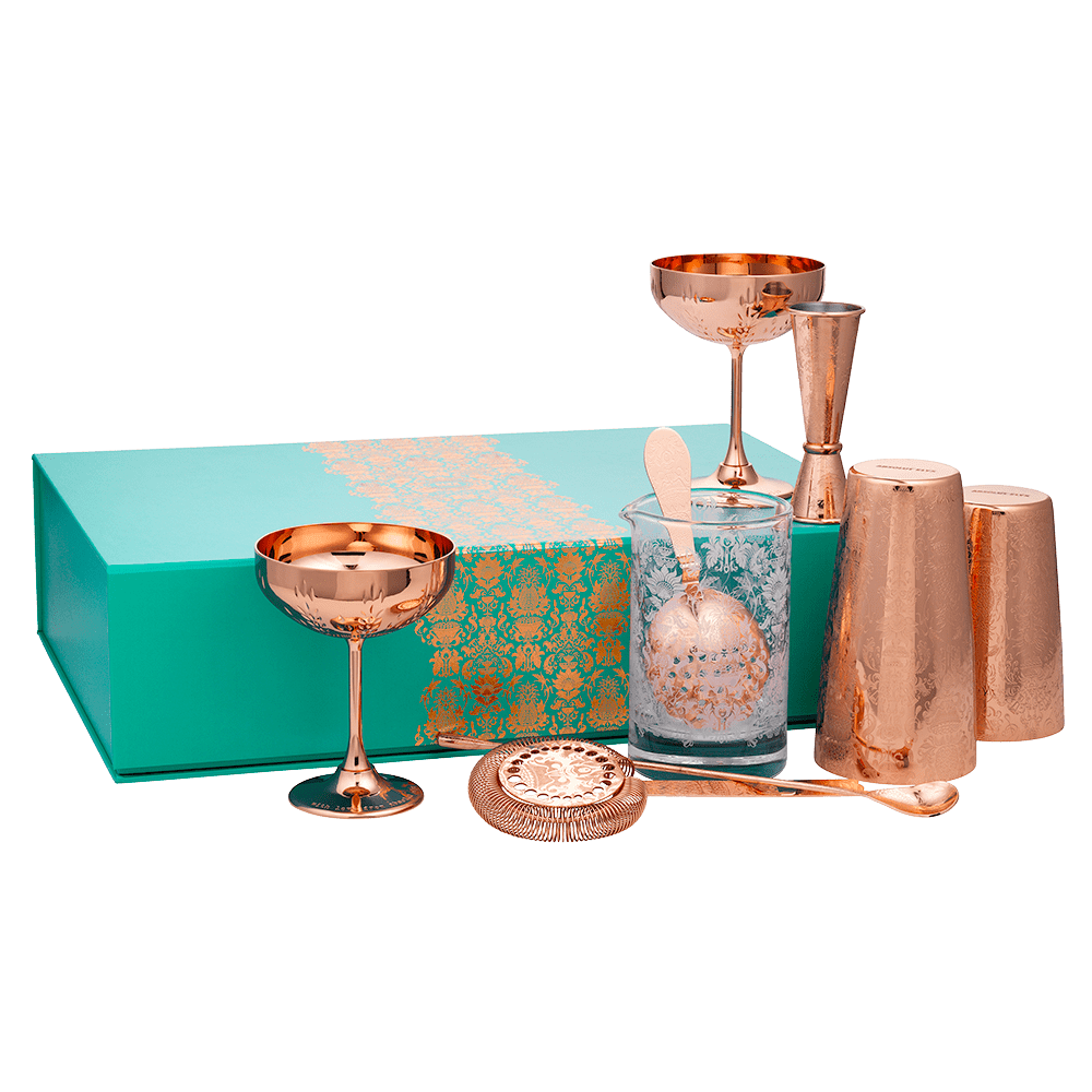 Deluxe martini copper gift set - 8 pieces-  $227.5