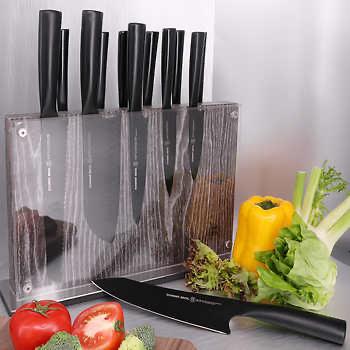 Costco Schmidt Brothers 14-piece Jet Black Knife Block Set - $99.97