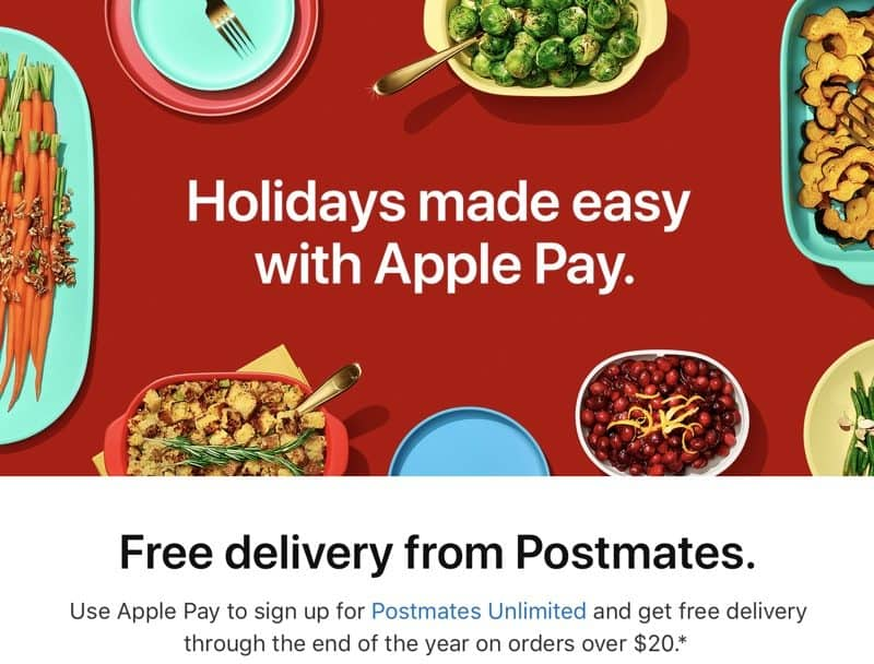 Postmates Unlimited Subscription - FREE! thru 2017. Must signup w/Apple Pay