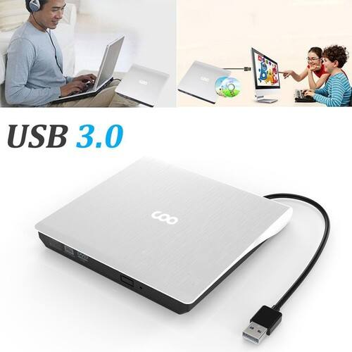 USB 3.0 External CD Drive Portable Ultra Slim External DVD-RW $17.50 AC + FS w/Amazon Prime