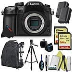 Panasonic LUMIX DMC-GH4 16.05MP Digital Single Lens Mirrorless Camera with 4K Cinematic Video (Body) + Kit for $1449.99