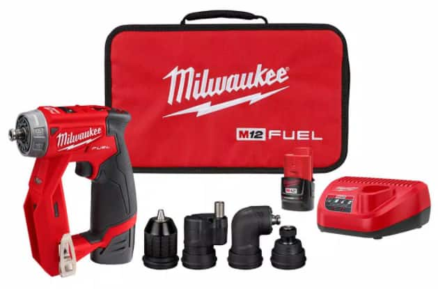 Hackable - M12 FUEL 4-in-1 3/8 in. Drill Driver Kit with 4-Tool Heads - HD in store $139