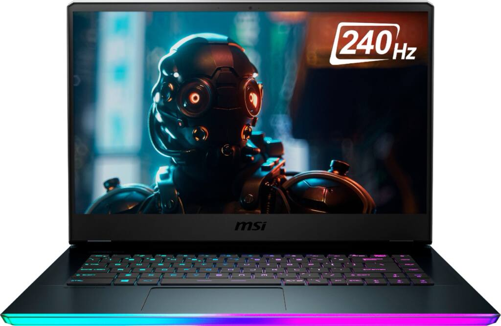 "$1699 MSI GE66 10SFS 15.6"" Gaming Laptop Intel Core i7 32GB Memory NVIDIA GeForce RTX 2070 SUPER 1TB SSD Aluminum Black GE66048"