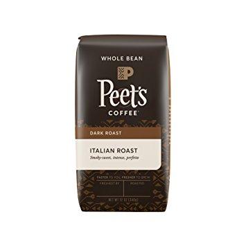 Peet's Whole Bean Coffee, Italian Roast, Deep Roast, 12-Ounce bag [Italian Whole Bean, 12 Ounce] $5.76