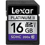 4-Pack of Lexar 16GB Platinum II Class10 (200x) SDHC UHS-I Memory Cards $19.99 + Free Shipping