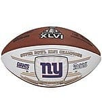 Wilson Sports Super Bowl Official Game Ball Leather Footballs (Mostly NY Teams) From $30 - $38 + Free Shipping AC