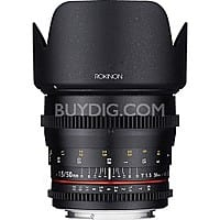 Rokinon DS 50mm T1.5 Full Frame Wide Angle Cine Lens (Various Mounts) $499 + Free Shipping