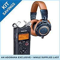 Adorama Deal: Audio-Technica ATH-M50x Professional Monitor Headphones (Blue) W/ Tascam DR-40 Digital Audio Recorder $220 AR + FS