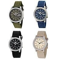 eBay Deal: Seiko Men's Automatic Stainless Steel Watch with Canvas Band $43 + Free Shipping