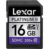 eBay Deal: 4-Pack of Lexar 16GB Platinum II Class10 (200x) SDHC UHS-I Memory Cards $19.99 + Free Shipping