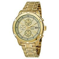 Ashford Deal: Seiko Men's Chronograph Gold Tone Stainless Steel Bracelet Watch (SKS426) $72 w/ Free Shipping AC