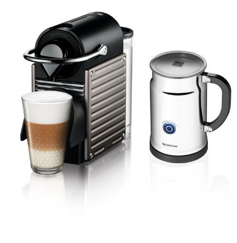 Nespresso Pixie Espresso Maker With Aeroccino Plus Milk Frother (Electric Titan) $145 + Free Shipping