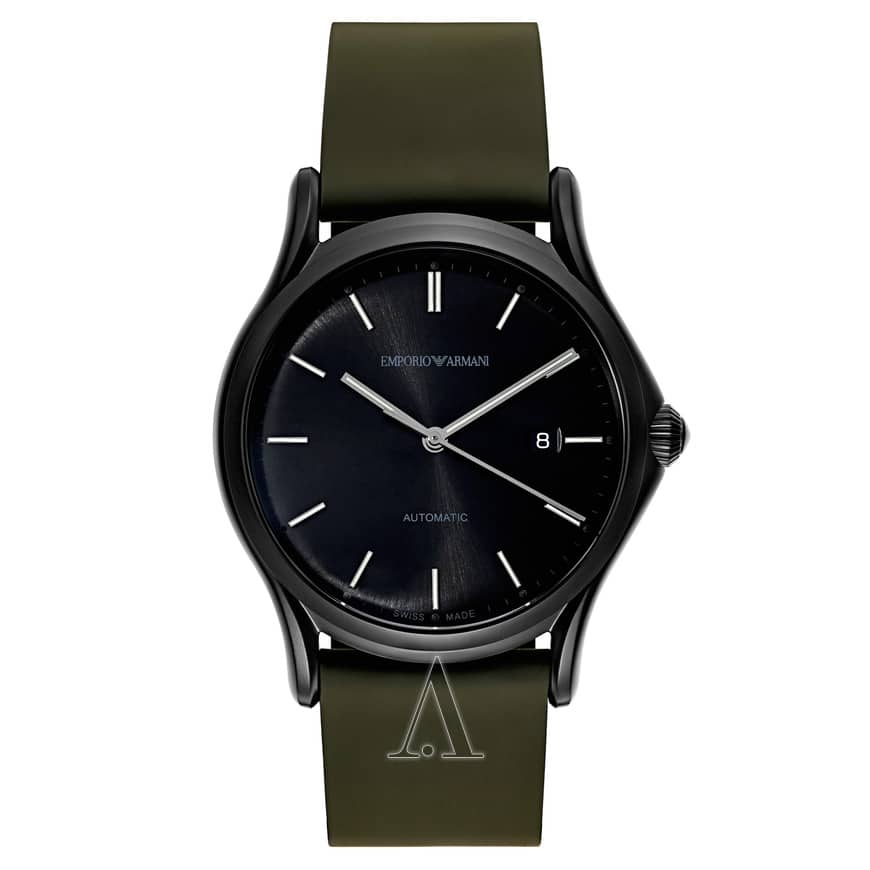 Emporio Armani Classic Men's Automatic Watch w/ Leather Band $229 + free shipping