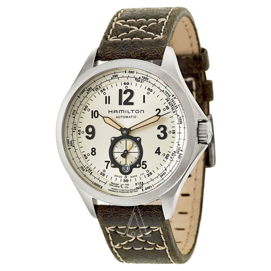 Hamilton Men's Khaki Aviation QNE Men's Watch w/ Leather Strap $375 + Free Shipping