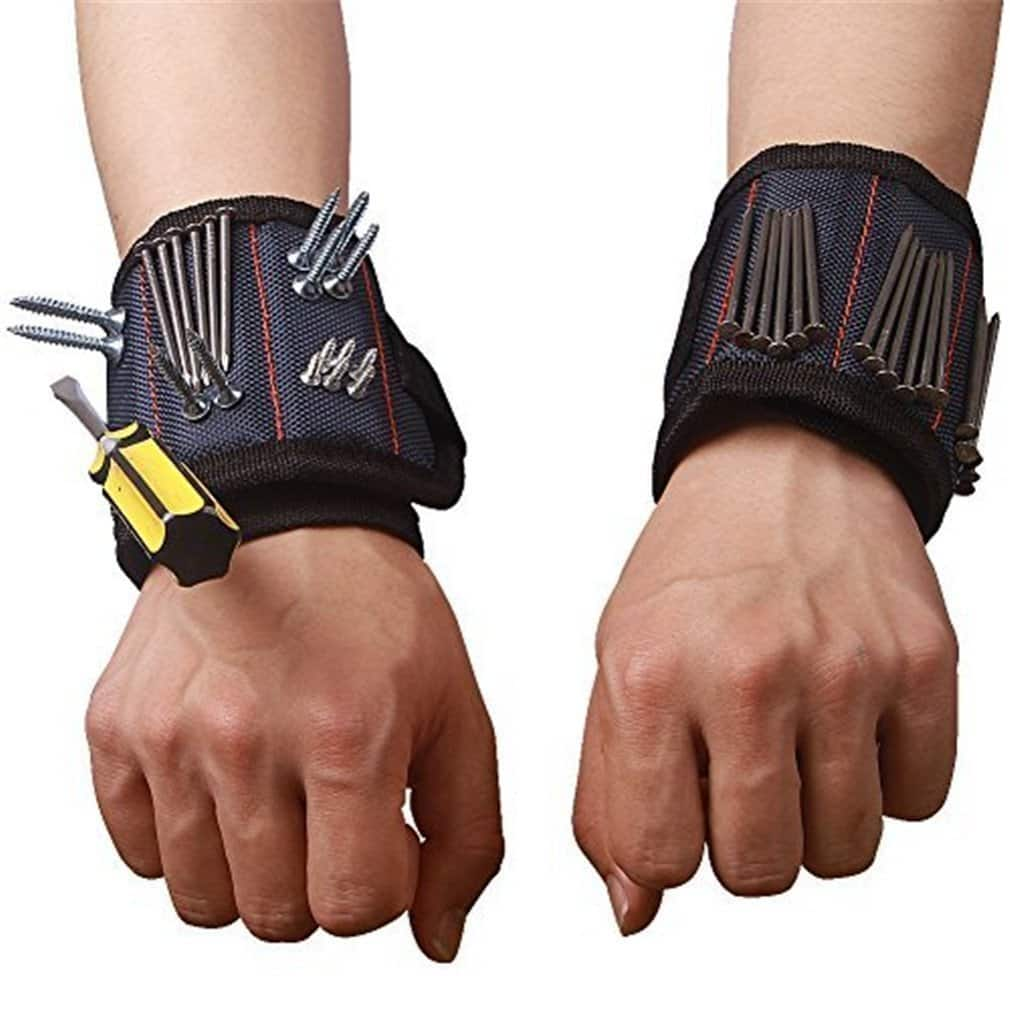 Magnetic Wristband for Holding Screws, Nails, Drill Bits etc. $4.20 @ Amazon w/ Prime shipping