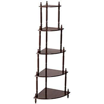 Frenchi Home Furnishing Cherry 5-Tier Corner Stand $16.05 w/ Prime Shipping @ Amazon