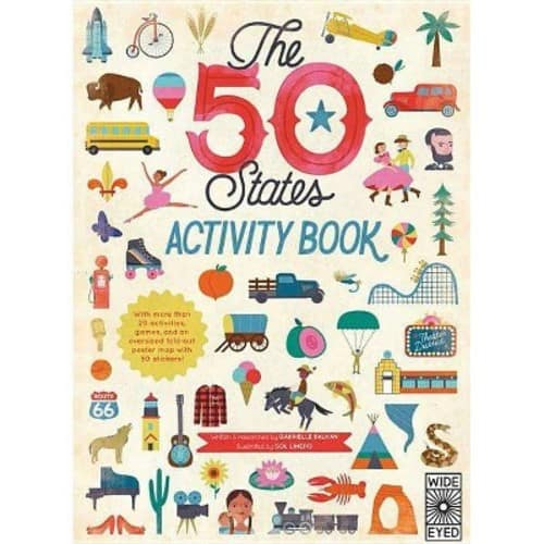 The 50 States: Activity Book: Maps of the 50 States of the USA $3.66 w/ Prime shipping at Amazon