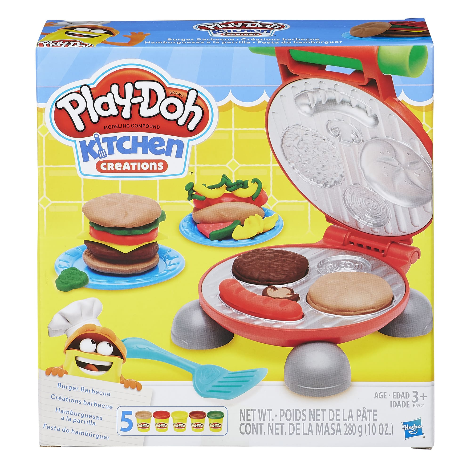 Play-Doh Kitchen Creations Burger Barbecue $5.00 w/ Prime shipping or Walmart Pickup