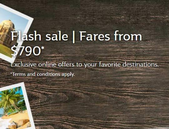 Qatar Airways | Flash sale | Fares from $790*
