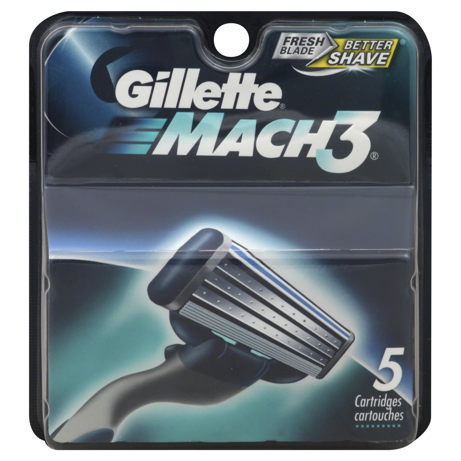 Amazon: Gillette Razor Refills: 15-Ct Mach3 $16.99