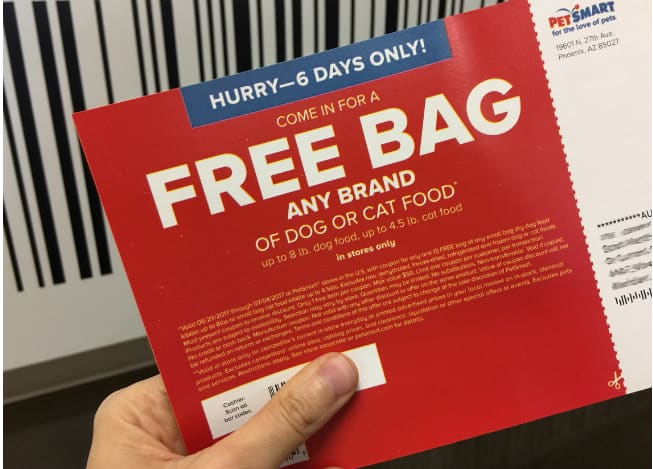 Petsmart: Free Any Brand Bag of Dog or Cat Food (Up to $50) - Check Your Mailbox! YMMV