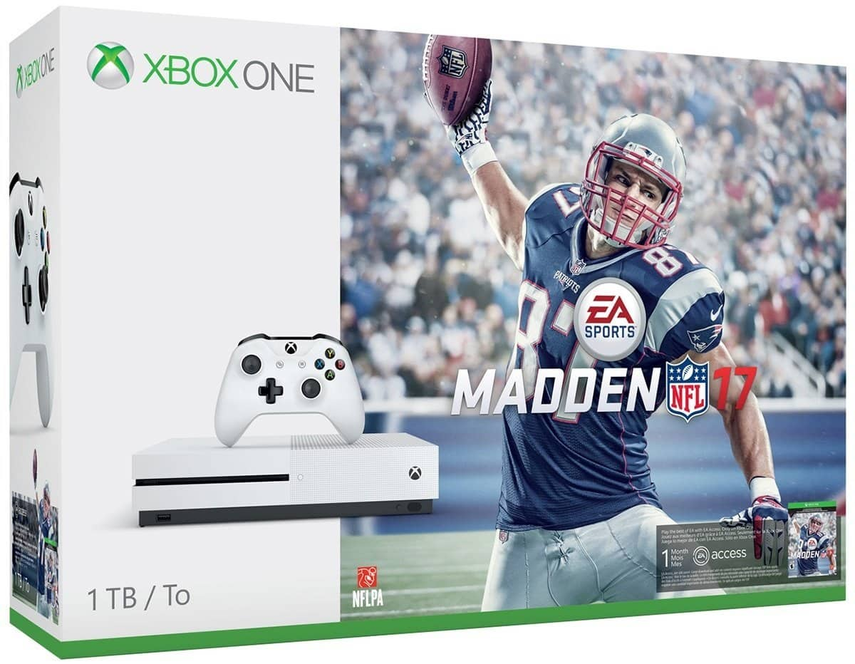 Xbox One S 1TB Console Madden 17 Bundle $314.99