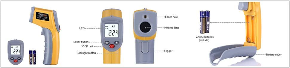 Tacklife IT-T02 Classic Infrared Thermometer Non-contact Digital Laser Temperature Gun $7.62  @ Amazon AC FS Prime or FSSS over $25