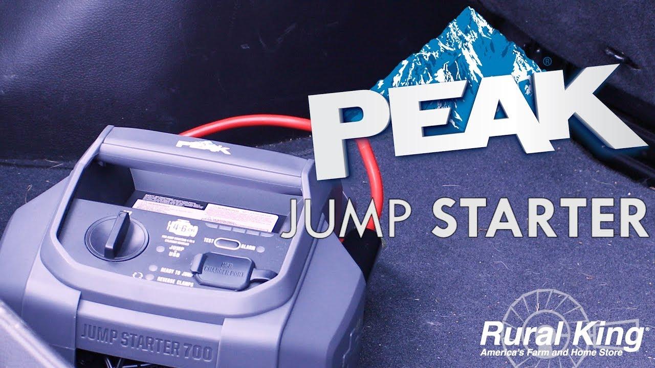 Rural King PEAK 700 AMP Jump Starter PKC0J700 $19.93 AR. Free PU in stores or FS @ $99+ Rebate Good Through 12/31/17