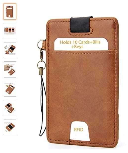 Full Grain Leather Minimalist Slim Wallet With RFID Protection $12.49 AC 50% Off $12.99 Sold by iPulse @ Amazon