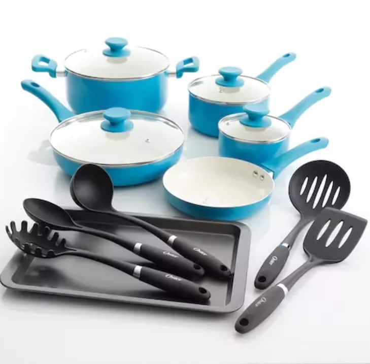 Kohl's Cardholders: Oster 15-pc. Cookware Set Plus The Big One Washcloth $29.74 AC and FS