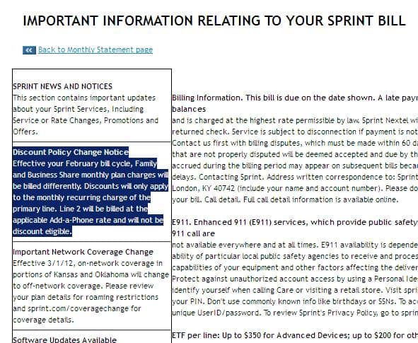 SPRINT Changing T&C again (Feb 2012) - Get out of Contract ETF free