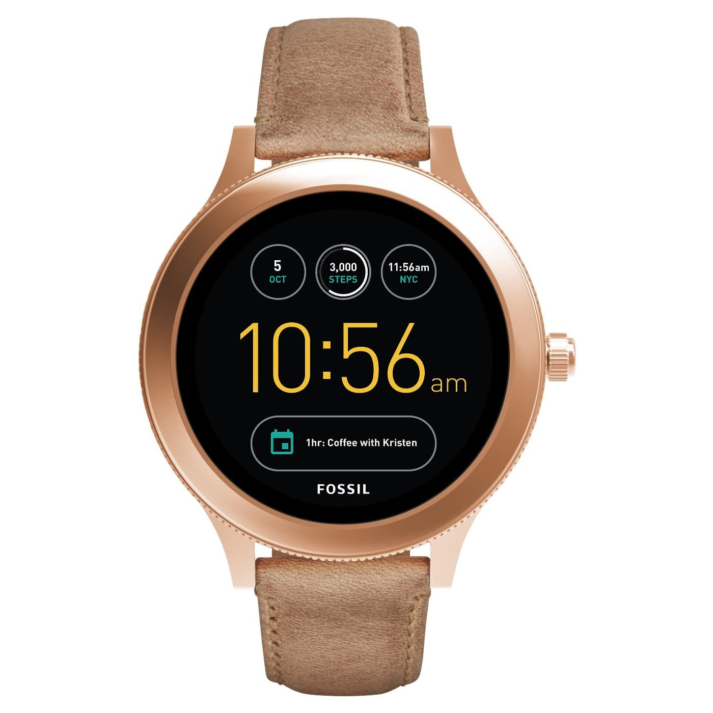 0a5efc4d7cc9 Target  Fossil Gen 3 Smartwatch - Venture 42mm Rose Gold-Tone and Light  Brown Leather  127.50