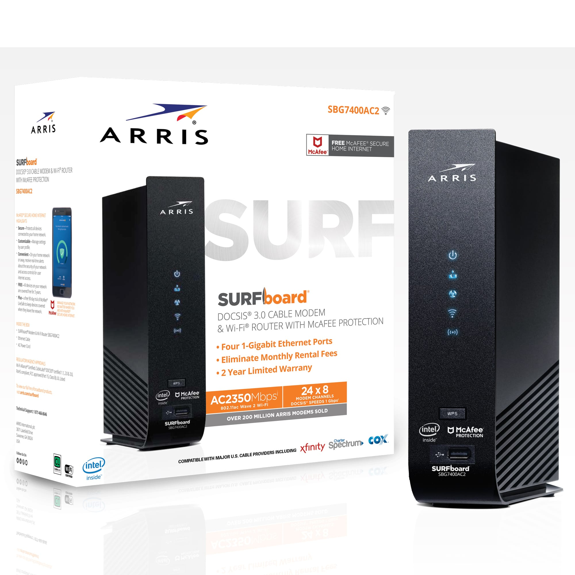ARRIS SURFboard AC2350 (24x8) Cable Modem Router Combo