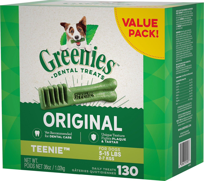 Greenies Teenie 130ct Dental Dog Treats $5.42