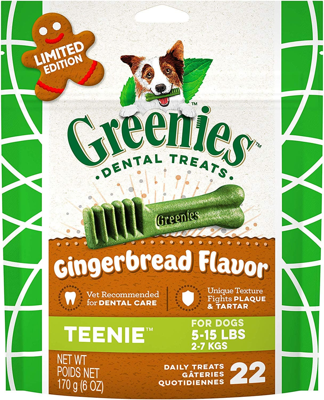 Greenies Gingerbread Flavor Natural Dental Dog Treats, 6 oz. Pack (Teenies) $3.96
