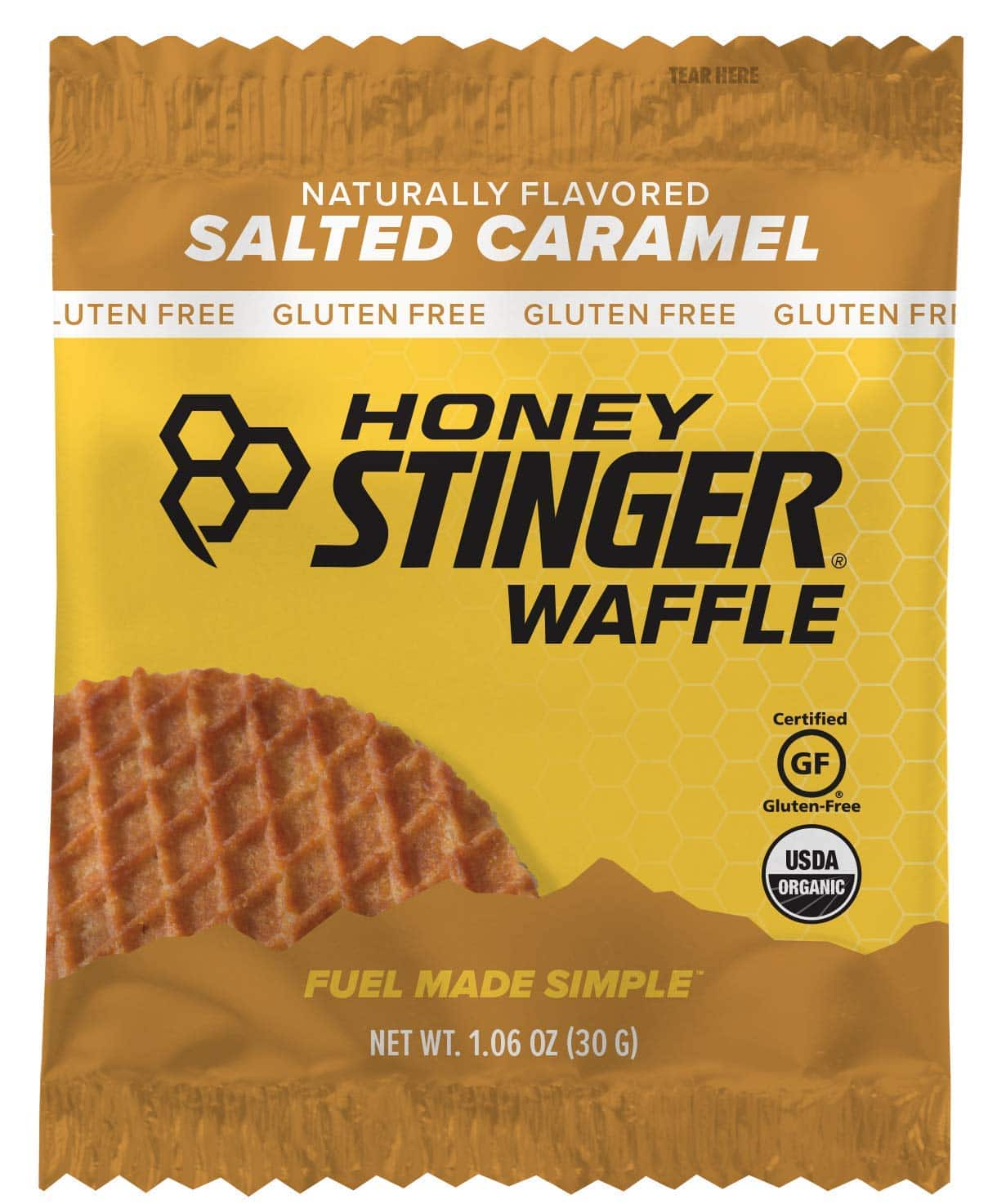 Honey Stinger Organic Gluten Free Waffle, Salted Caramel, Sports Nutrition, 1.06 Ounce (16 Count) $9.23