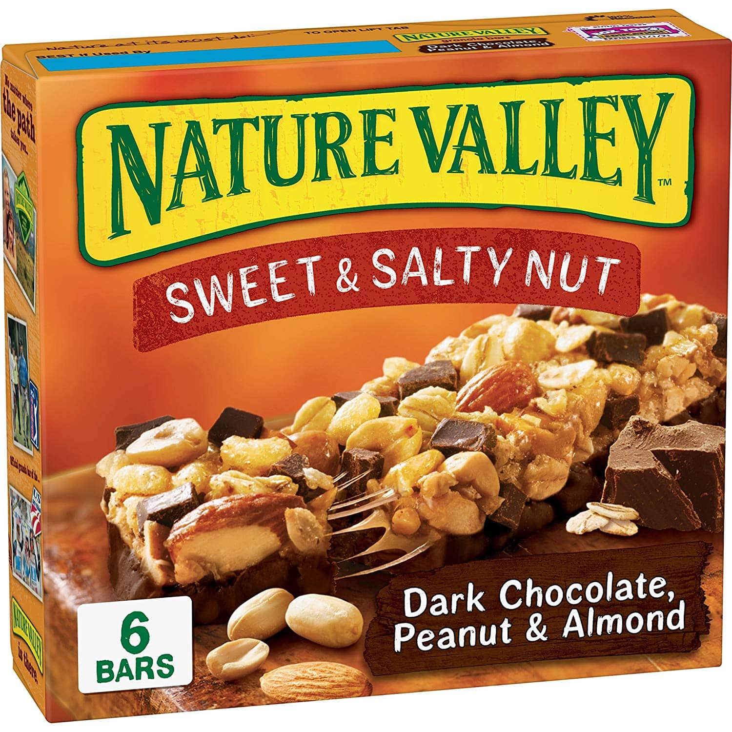 Nature Valley Granola Bars, Sweet and Salty Nut, Dark Chocolate Peanut & Almond, 7.4 Ounce Pack of 1 (6 bars) $1.88