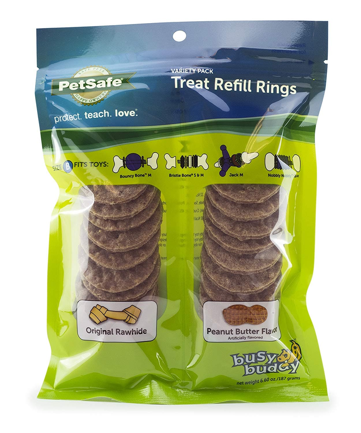 PetSafe Natural Rawhide Rings, Dog Toy Treat Ring Refills $5.42 with s/s