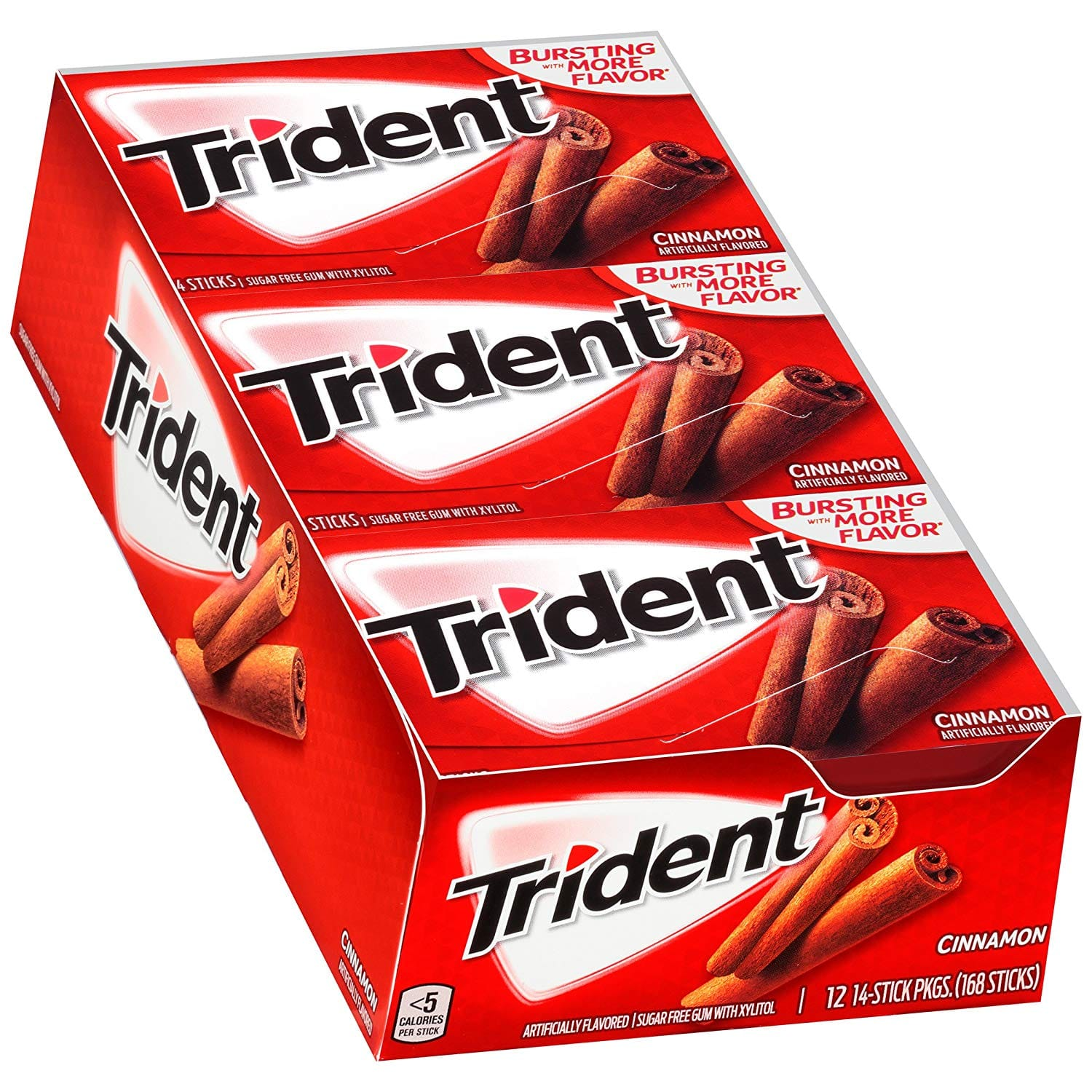 Trident Cinnamon Sugar Free Gum - with Xylitol - 12 Packs (168 Pieces Total) $6.38 with s/s