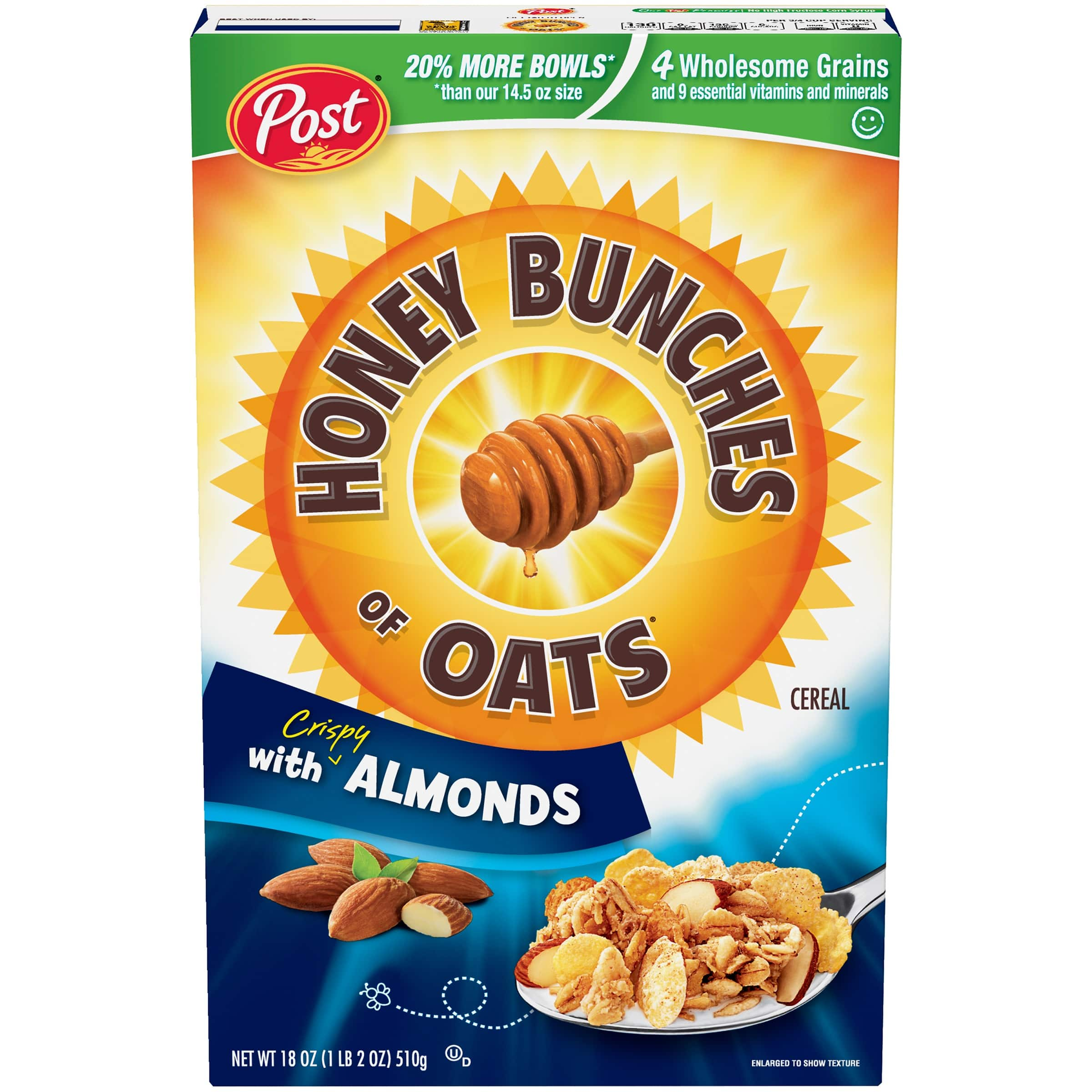 Post Honey Bunches of Oats with Crispy Almonds Cereal 18 oz. Box $2.36 with s/s