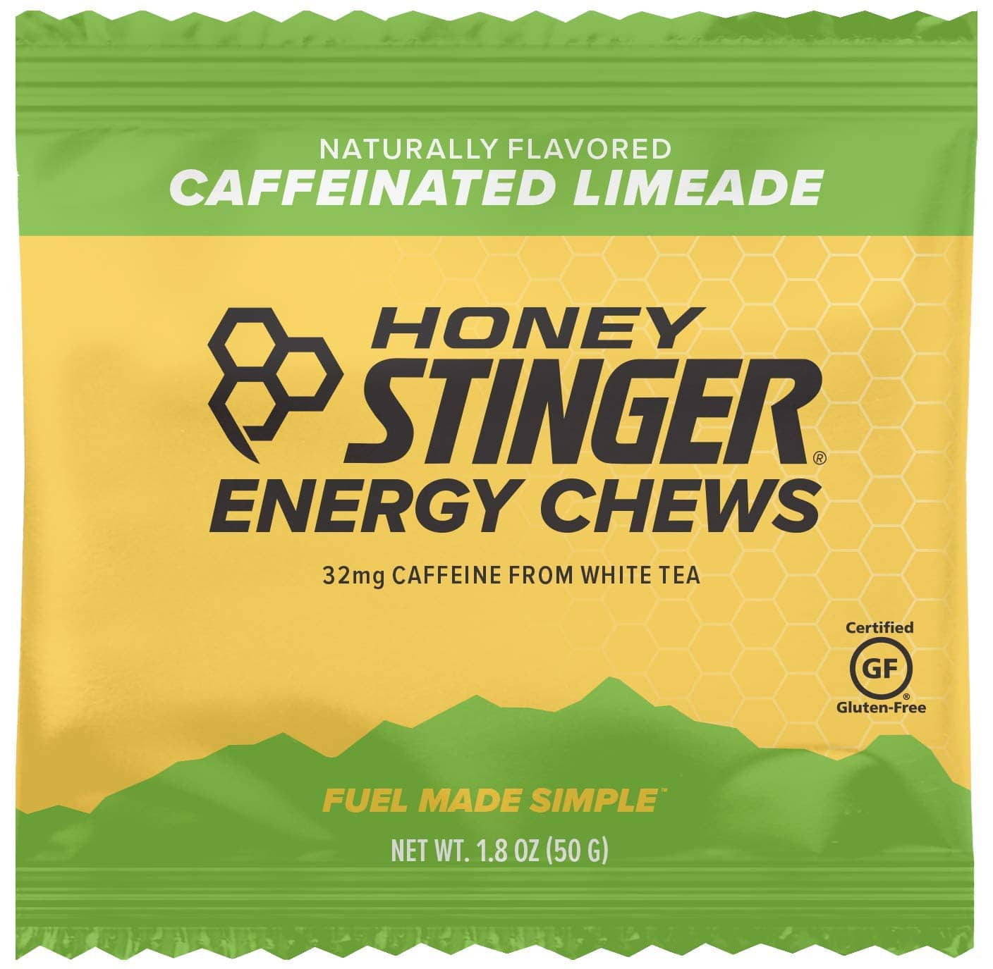 Honey Stinger Organic Energy Chews, Limeade, Naturally Caffeinated, Sports Nutrition, 1.8 Ounce (Pack of 12) $6.97 with s/s