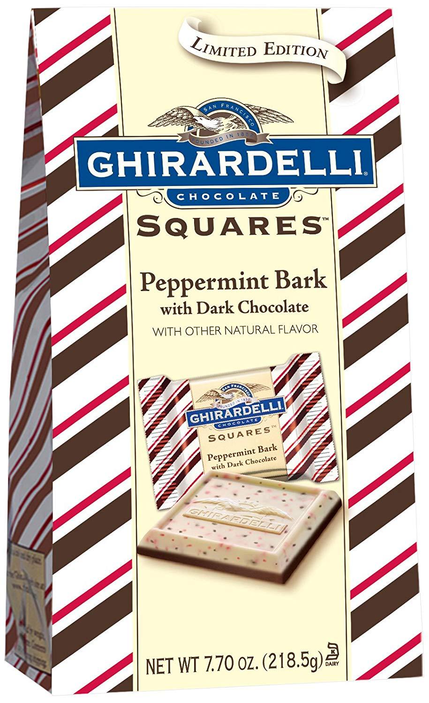 Ghirardelli Dark Chocolate Peppermint Bark Squares – 7.7 oz. (218.5g) Bag $2.97